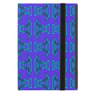 ターコイズのTiki紫色のパターン iPad Mini ケース