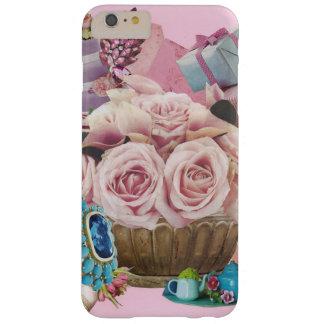 ターコイズを持つピンクのキャベツバラ BARELY THERE iPhone 6 PLUS ケース