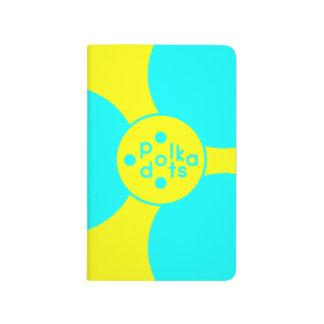 ターコイズ及び日光の黄色い小型ジャーナル ポケットジャーナル