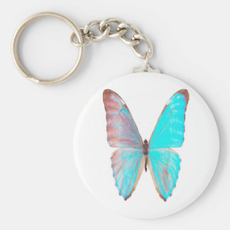 ターコイズ翼、蝶keychain キーホルダー