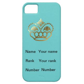 ターコイズ、名前、ランクおよび数を用いる王冠、 iPhone SE/5/5s ケース