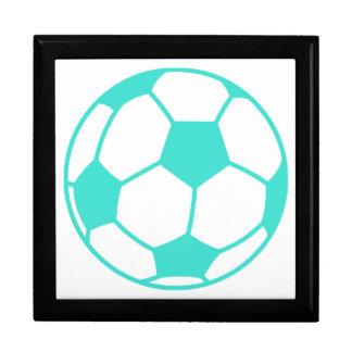 ターコイズ; 青緑のサッカーボール ギフトボックス