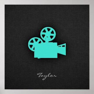 ターコイズ; 青緑の映画用カメラ ポスター