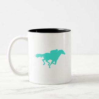 ターコイズ; 青緑の競馬 ツートーンマグカップ