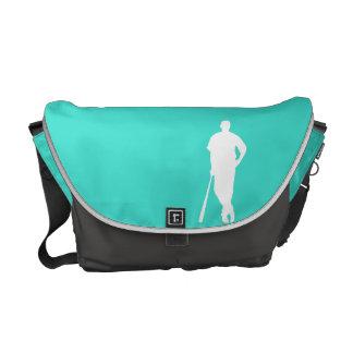 ターコイズ; 青緑の野球、ソフトボール メッセンジャーバッグ
