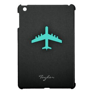 ターコイズ; 青緑の飛行機 iPad MINIカバー