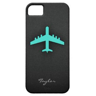 ターコイズ; 青緑の飛行機 iPhone 5 CASE