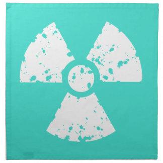 ターコイズ、青緑色の放射性記号 ナプキンクロス