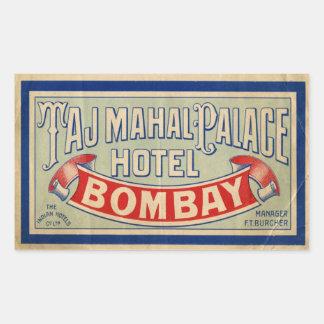タージ・マハルのホテル 長方形シール