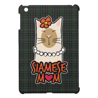 タータンチェックのシャム猫のミイラ iPad MINIケース