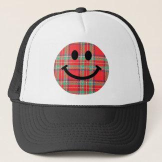 タータンチェックのスコットランド人のスマイリー キャップ