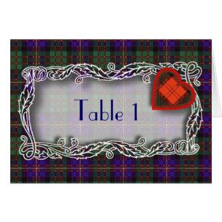 タータンチェックのテーブル数カード- Errachtのカメロン カード