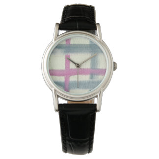 タータンチェックの腕時計 腕時計