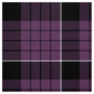 タータンチェックパターンすみれ色の白黒ID305 ファブリック