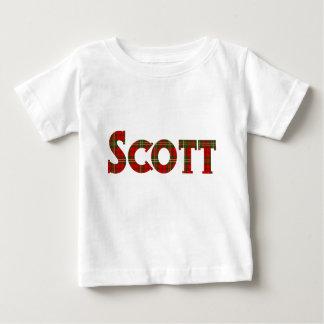 タータンチェック格子縞のスコットの名前 ベビーTシャツ