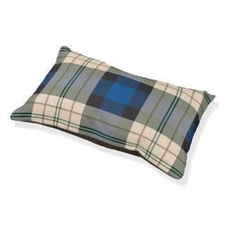タータンチェック格子縞パターン-伝統的で青いベージュ色