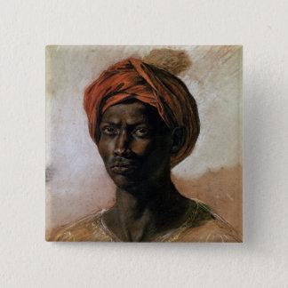 ターバンのトルコ人のポートレート、c.1826 5.1cm 正方形バッジ