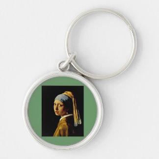 ターバンを持つ女の子か真珠のイヤリングを持つ女の子 キーホルダー