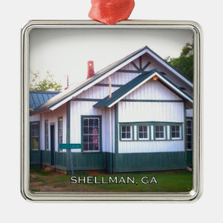 ターミナル- Shellman、ジョージア メタルオーナメント