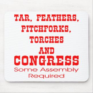 タールは干し草用フォークトーチ及び議会に羽をつけます マウスパッド