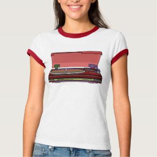 ターンテーブルのデザイン Tシャツ