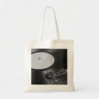 ターンテーブルの概観で遊ぶレコード トートバッグ