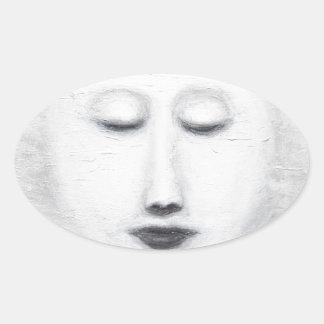 ダイアナの睡眠の満月(超現実的な現実主義) 楕円形シール