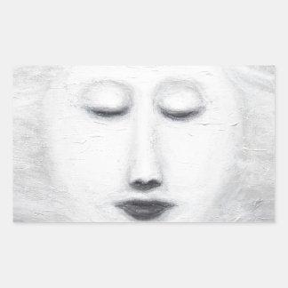 ダイアナの睡眠の満月(超現実的な現実主義) 長方形シール
