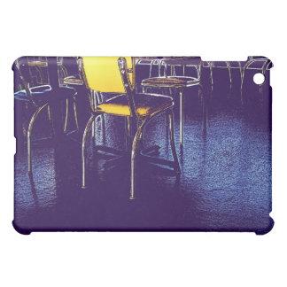 ダイナーの紫色の黄色いデジタルレトロの刃の鋭い iPad MINIカバー