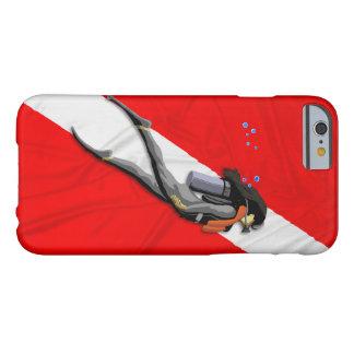 ダイバーおよび飛び込みの旗 BARELY THERE iPhone 6 ケース