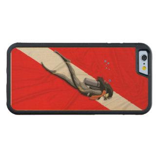 ダイバーおよび飛び込みの旗 CarvedメープルiPhone 6バンパーケース
