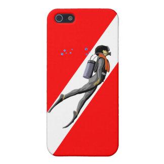 ダイバーおよび飛び込みの旗 iPhone 5 カバー