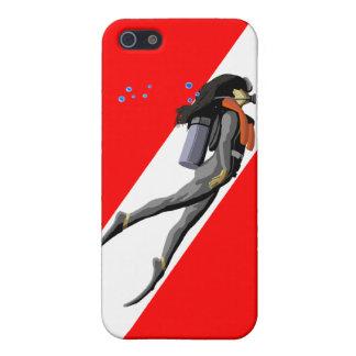 ダイバーおよび飛び込みの旗 iPhone 5 ケース
