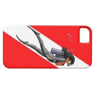 ダイバーおよび飛び込みの旗 iPhone SE/5/5s ケース