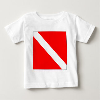 ダイバーのクラシックな旗 ベビーTシャツ