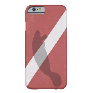 ダイバーはマナティーと印を付けます BARELY THERE iPhone 6 ケース
