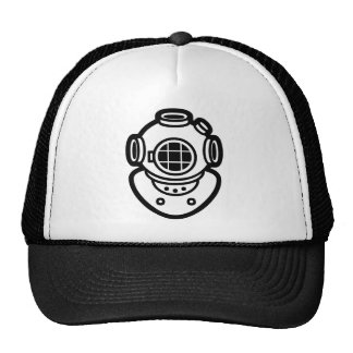 ダイビングのヘルメット ハット