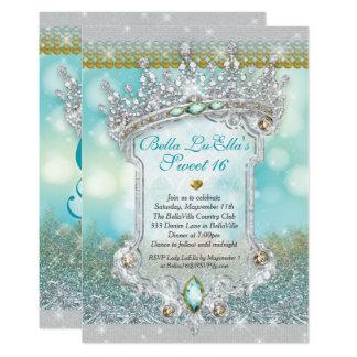 ダイヤモンドおよびきらきら光るな菓子16のマルメロの招待状 12.7 X 17.8 インビテーションカード