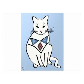 ダイヤモンドつばを持つ猫 ポストカード