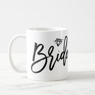 ダイヤモンドと白黒花嫁のマグ コーヒーマグカップ