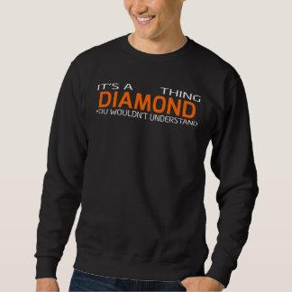 ダイヤモンドのためのおもしろいなヴィンテージのスタイルのTシャツ スウェットシャツ