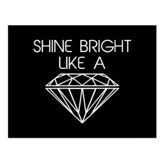 ダイヤモンドのように明るい輝やき ポストカード