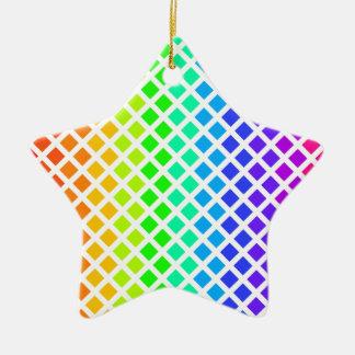 ダイヤモンドのオーナメントの虹は、カスタマイズ セラミックオーナメント