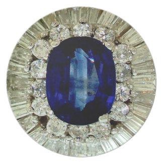 ダイヤモンドのサファイアのアクセサリーのプラスチックGlamping プレート