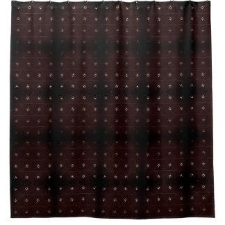 ダイヤモンドのスタッドBurgandy シャワーカーテン