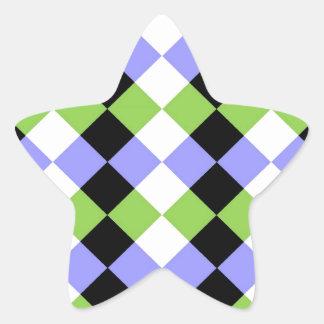 ダイヤモンドのストリップ 星シール