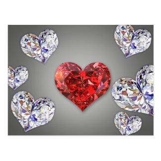 ダイヤモンドのハート-郵便はがき ポストカード