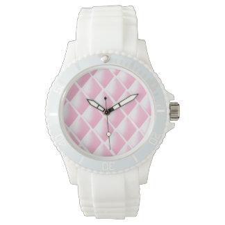 ダイヤモンドのピンクの破裂音 腕時計