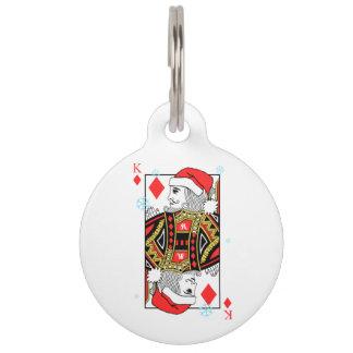 ダイヤモンドのメリークリスマス王 ペット ネームタグ