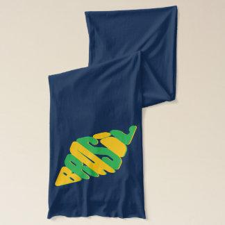ダイヤモンドの形のブラジルのロゴ スカーフ